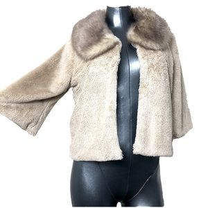 Betsey Johnson Vintage Inspired Faux Fur Jacket